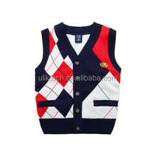Boys vest Spring loaded Cotton Line Baby Wool Knitted Cardigan Children's vest