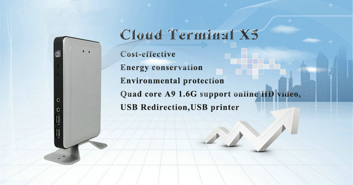 2017 Newest Multi Language ARM A9 Quad Core X5 Thin Client