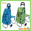 Foldable hand cart folding trolley travel bag with chair