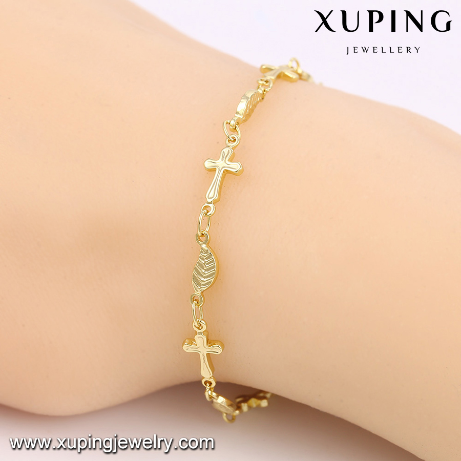 74484 xuping ladies bracelet models, 14k gold plated beaded women's fashion ally express wholesale bracelet