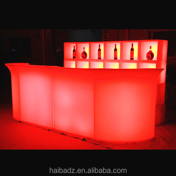 furniture school <strong>U</strong>-shaped golden lighting design acrylic solid surface led bar counter