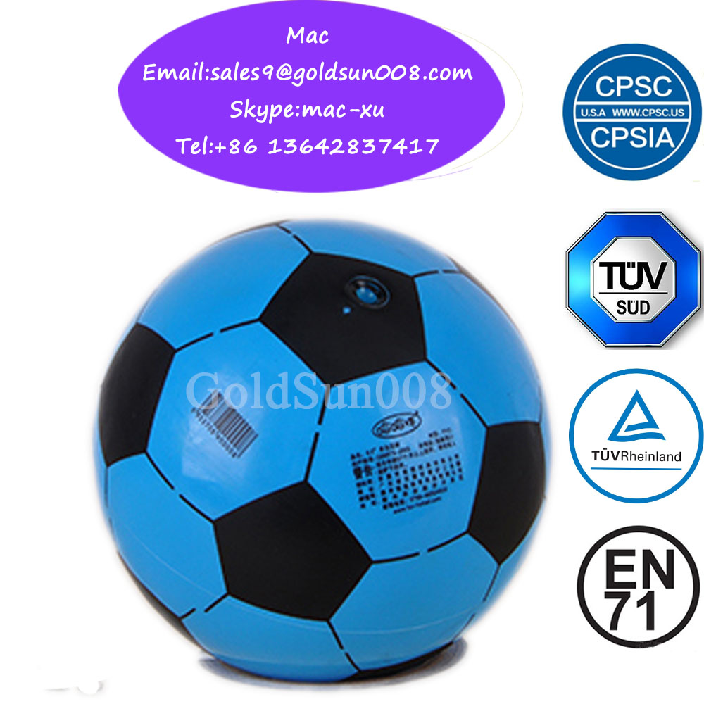 PVC promotion soft inflatable soccer football ball