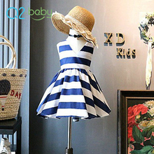 Q2-baby 2018 Summer New Directions Clothing Cheap Beautiful Stripe Dresses For Girls