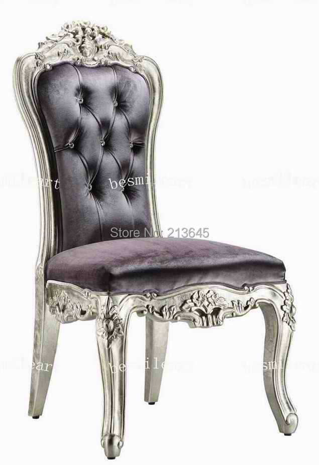 solid wood luxury modern dining room handcraft roylaty dining chair  home furniture neoclassical dining chair