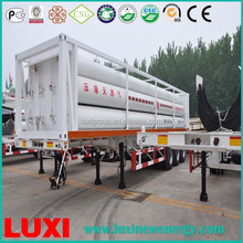 mobile tube trailer 25MPa fuel tanker trailer , cng long tube skid container trailer