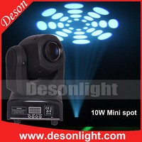 2015 NEW! gobo projector DMX 512 Gobo spot 10W led mini moving head light