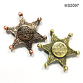 Classical Metal Color Sheriff Six Pointed Star Spinner Hand Fidget Stress Relax Spinner