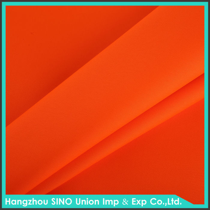 Waterproof FR polyester material fluorescent oxford fabric 300d for safety cloth