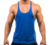 wholesale cotton custom blank mens stringer gym tank top