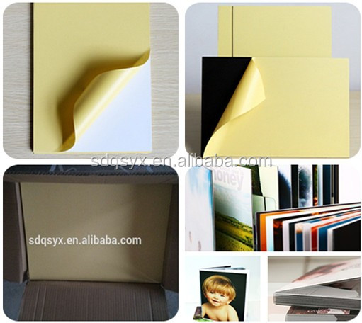 Self adhesive album paper PVC sheet super thin double side PVC