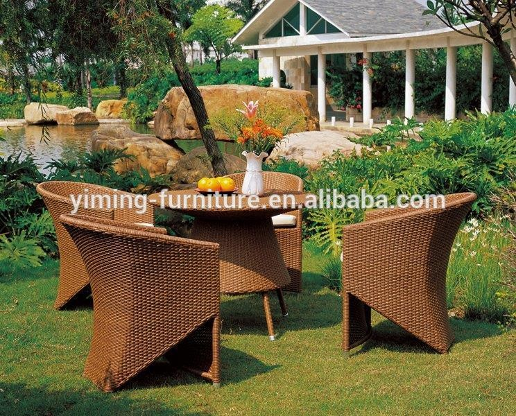 Fashionable Artificial Wicker Classic Dining Set Used