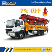 XCMG official manufacturer HB50K 50m concrete pump mixer truck