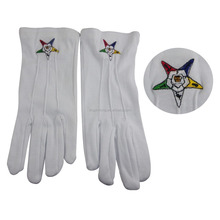 White Cotton Glove Wholesale Masonic Gloves OES Star Gloves
