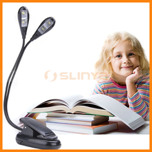 Dual Flexible Arms 4 LED Clip Book Reading Light