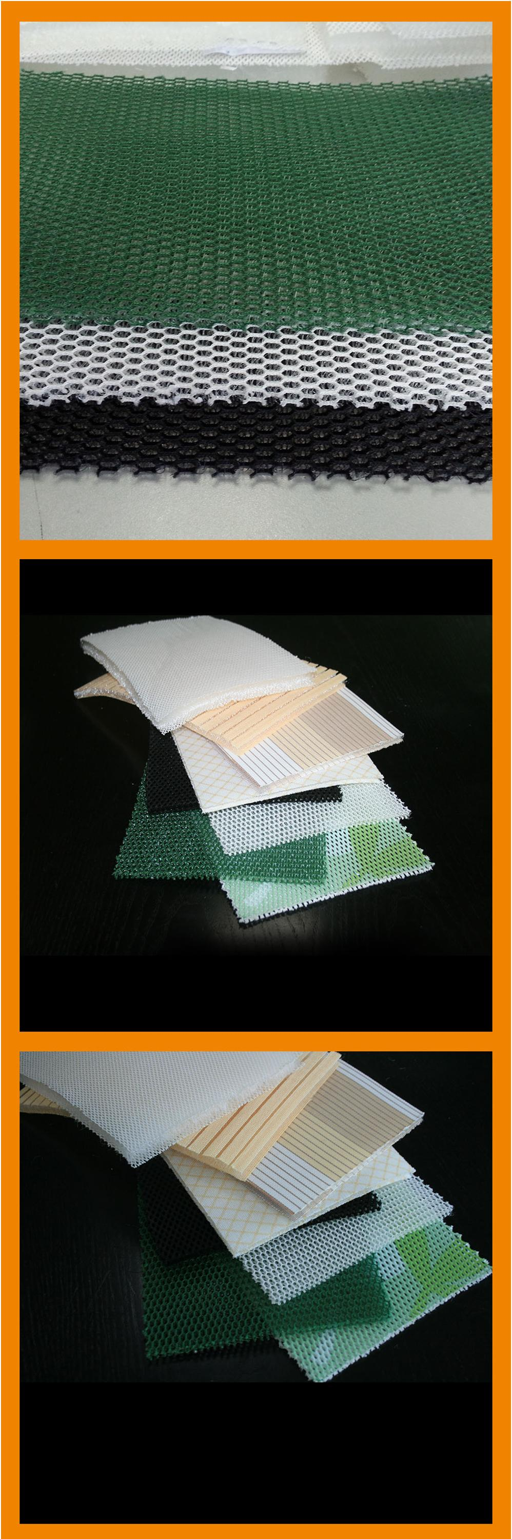 colorful multi size cut pieces 3d fabric polyester mesh
