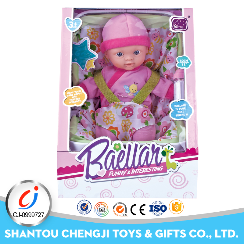 New wholesale baby fashion silicon beautiful 12 inch toy dolls for girls