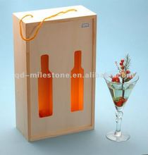 Fashion design 2-bottle & 2012 luxury box for chinese wooden packing box