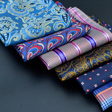 Factory Manufacturer Custom suit Jacquard Polyester Brand Handkerchief Colorful Men Pocket Square