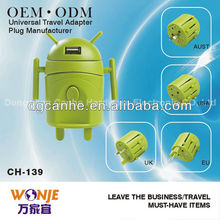2013 Android-shaped 4 in one universal converter promotional corporate gift items