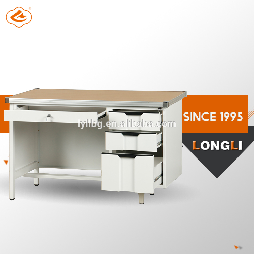 Longli 3 Drawer Keyboard Trap Wooden Surface Metal Computer table office