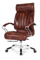 Mid back metal base cheap executive leather chair (HX-A8047)