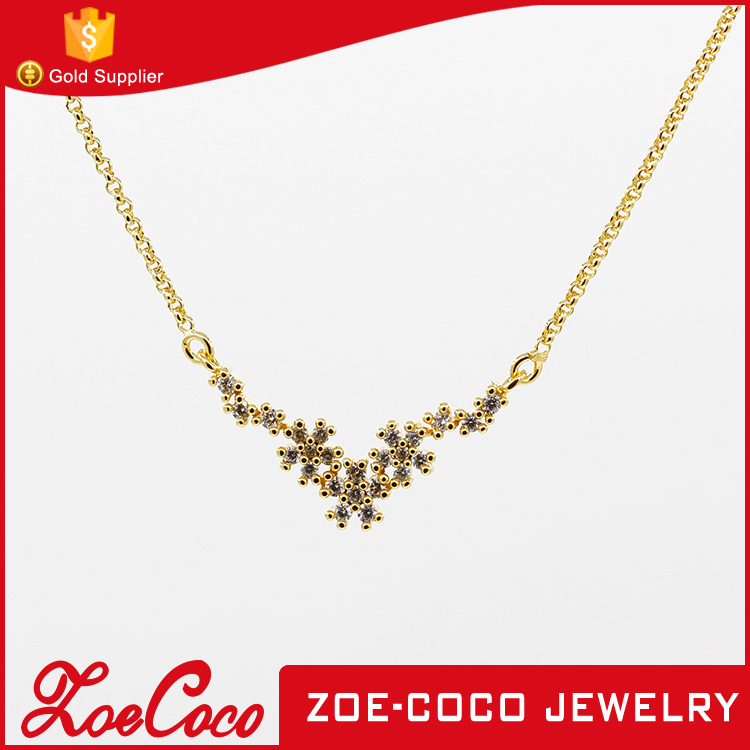 China Wholesale 18k gold jewelry, Fashion long necklace designs, women necklace gold chain