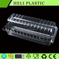 Clear plastic cake packaging box high dome design