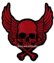 Embroidery Patches - Heat-Seal Skull Wing for Promotion (Patch/Emblem/Badge/Label/Crest/Insignia)