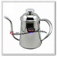 B082 Tiamo Long Mouth Pot With Thermometer