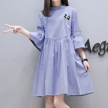 X82637B new design korean maternity stripes dress
