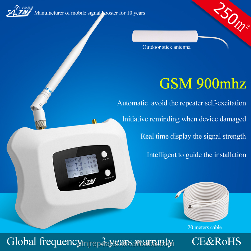 GSM 900 MHZ 2g mobile phone signal booster and cell signal repeater