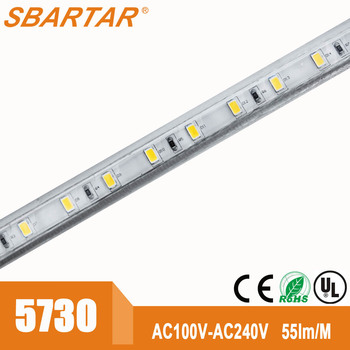 Super bright smd 5730 led strip 60 leds/meter 220V 60W/Meter