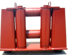 Marine fairlead with horizontal roller