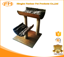 High quality luxury wooden cat tower, new soft pet dog house, cat tree house