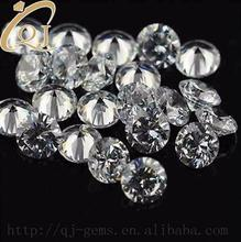 Wholesale price white synthetic diamond 1.7mm AAA round cubic zirconia