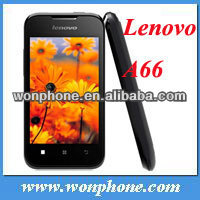 Original Lenovo A66 phone MTK6575 1GHZ CPU 3.5 inch screen Cheap phone 2.0MP camera GPS WIFI Bluetooth