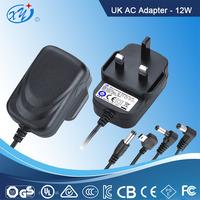 High quality TUV EU UK AU US plug 12v 1a ac dc power supply for led CCTV camera