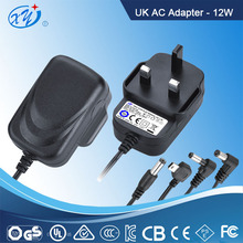 High quality TUV EU UK AU US plug 12v 1a ac dc power supply for led CCTV camera