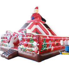 Christmas promotion popular inflatable bounce house castle for backyard parties / adults plus size Christmas bouncy jumper sale
