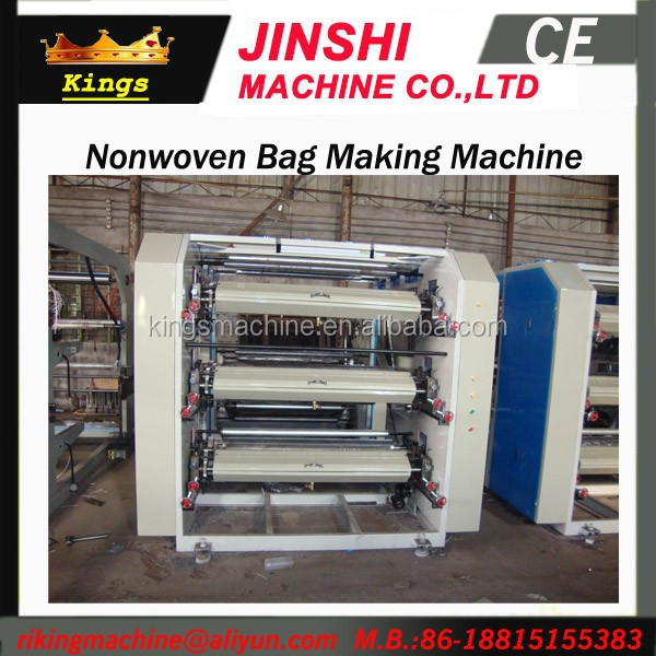 Rolling Nonwoven Fabric Flexible Printing Machine YT 4 1400 Kings Machine