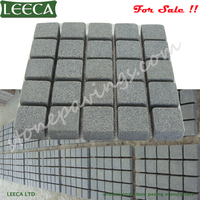 50x50cm G654 paving stone dark grey granite cobble mats