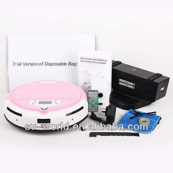 automatic robot vacuum cleaner with auto charge, UV disinfection, with LED Screen