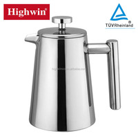 Hot Sale High Quality 0.35L 0.8L 1L stainless steel coffee press with FDA certificate