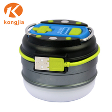 NHKJ Ultra Bright LED ABS Flexible Plastic Lantern Waterproof Mini Camping Rechargeable Eergency Lantern