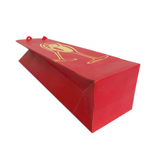 Gift giving red festive wine paper bag for Red wine and champagne