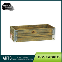Small Wooden Crates/Cheap Wooden Wine Crates for Sale/Planter Crates for Garden Usage