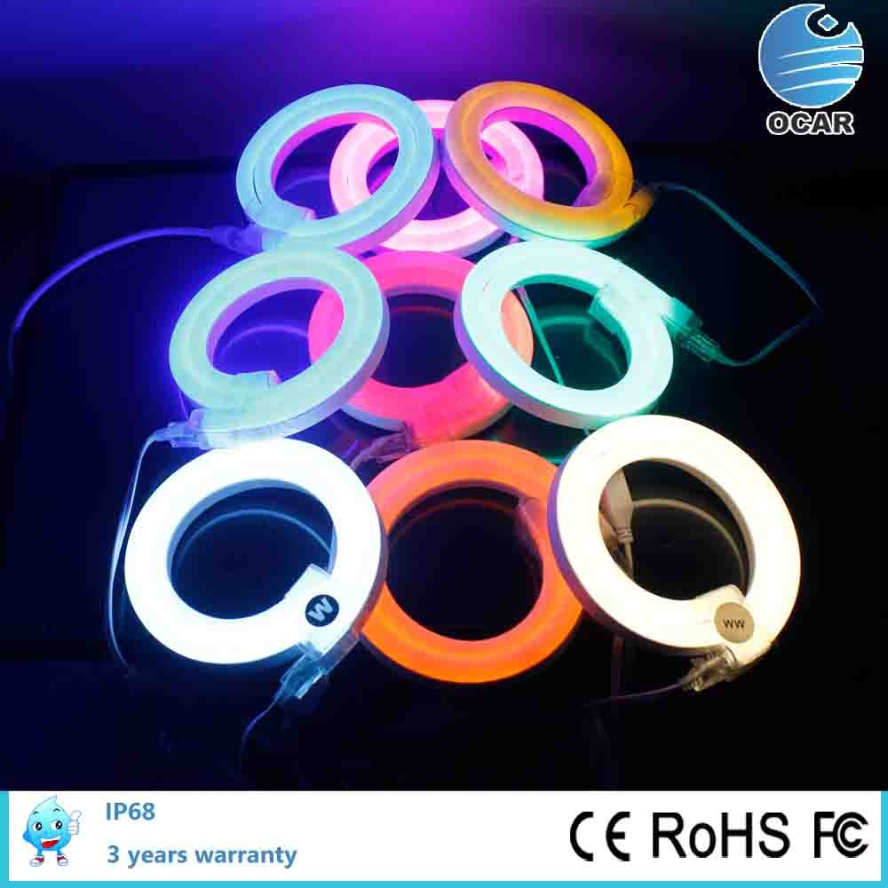 24V/ 110V/220/240V voltage neon led lighting led neon flex rope shenzhen manufacturer