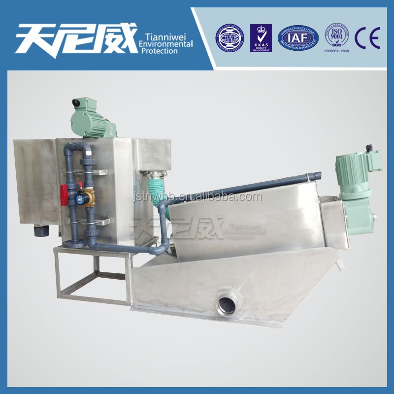 Sludge dewatering equipment for Copper containing wastewater treatment