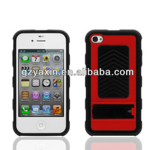 Armor kickstand hybrid case,Rugged Rubber Matte Hard Case Cover/accessories For iPhone 4 4s 4gs