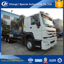 10 wheel sinotruk howo 6*4 truck hook lift, hook loader 16m3 18m3 howo , hook lifting garbage truck howo